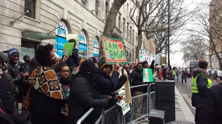 #NigerianLivesMatter Protest outside Nigerian Embassy