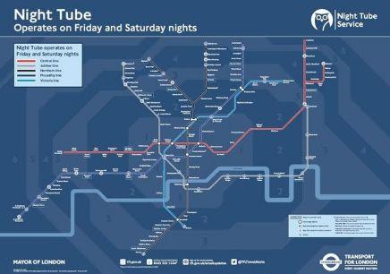 London Underground Releases Night TubeMap
