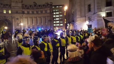 Million Mask March: Over 50 arrested as London protest turnsviolent